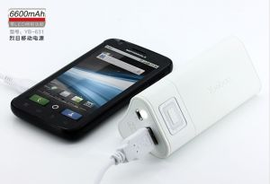 Durable Power Bank Universal Battery Charger 6600mAh External for iPhone iPod iPad Mobile Phone for Traveling (YB 631)