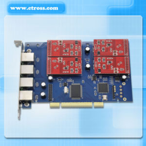 Tdm410p Asterisk 4 Port FXO FXS PCI Card, Asterisk Analog Sound Card, VoIP Telephony Card, Compatible with All Analog Digium Card pictures & photos