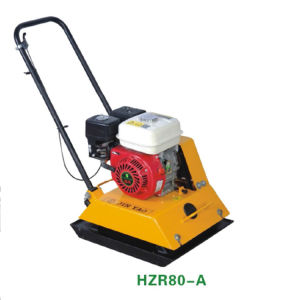 80A Hand Mini Soil Road Vibratory Plate Compactor with Engine