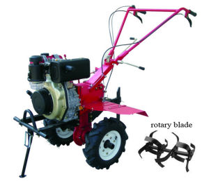 Direct Injection Diesel Mini Rotary Tiller with Gear Drive