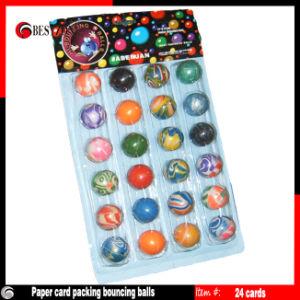 Paper Card Packing Mixed Bouncing Balls 24PCS/Card pictures & photos