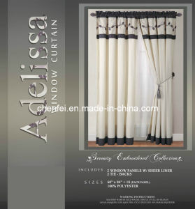 Embroidered Polyester Window Panel Curtain