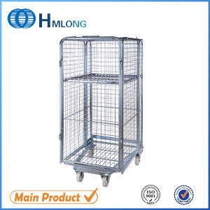 Supermarket Industry 4 Sides Roll Pallet Cages pictures & photos