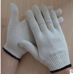 Industrial Safety Work Knitted White Cotton Gloves pictures & photos