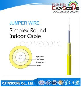 Simplex Flat Indoor Cable/ Jumper Wire/FTTH Indoor Cable pictures & photos