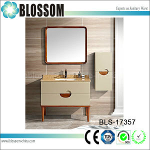 PVC Bathroom Wall Corner Sink Vanity Cabinet (BLS-17357) pictures & photos
