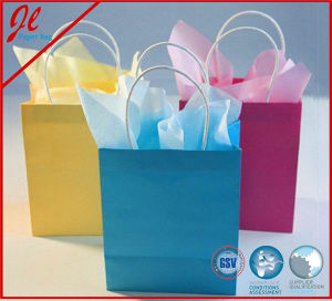 Eco-Friendly Brown Kraft Paper Handle Carrier Promotion Shopping Bag pictures & photos