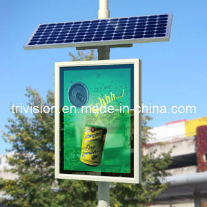 Solar Lamp Pole Scrolling Advertising Light Box pictures & photos