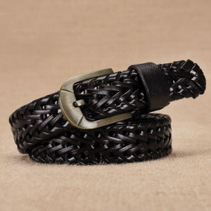 High Quality Braided Belt with Alloy Pin Buckle Fashion Accessories pictures & photos