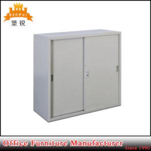 Small Steel Furniture 2 Sliding Door Metal Cupboard Cabinet pictures & photos