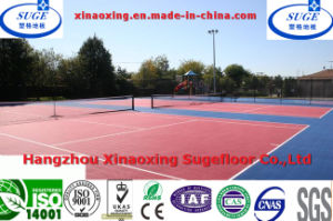 Non-Toxic Durable Red and Blue Modular Sports Flooring Carpet Tile pictures & photos