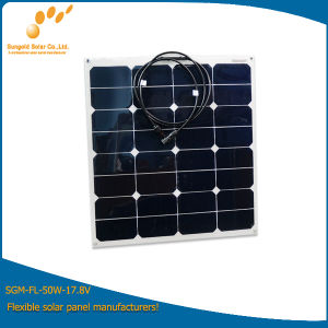 Semi Flexible Solar Panel Kit 50W Mono or Poly with Diode pictures & photos