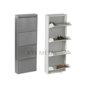 Wall Mounted 4 Doors Metal Shoe Cabinet pictures & photos