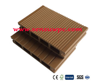 Oak Brown Sensu WPC Hollow Decking for Garden pictures & photos
