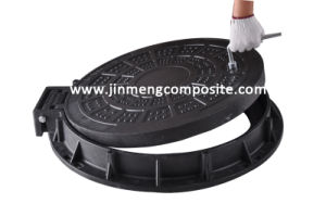 Anti-Theft D400 SMC Composite Manhole Cover with Lock pictures & photos