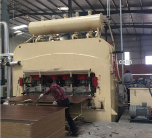 Wood Working Melamine MDF Hot Press Machinery Double Sides MDF Short Cycle Press Line pictures & photos