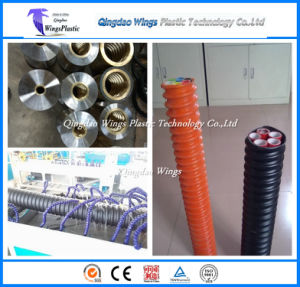 HDPE Single Wall Cod Pipe Making Machine / Plastic Corrugated Optic Duct Pipe Extrusion Machine pictures & photos