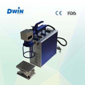 China Portable 20W Metal Fiber Laser Marking Machine (DW-F20W) pictures & photos