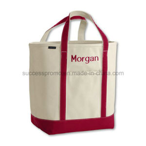 Heavy Duty 2 Toned Wholesale Eco Blank Standard Size Canvas Tote Bag pictures & photos