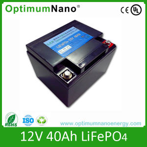 Rechargeable 12V 40ah Lithium Battery for UPS pictures & photos