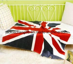 Micro Mink UK Flag Design Baby Blanket pictures & photos