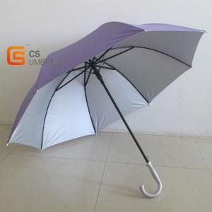 Plain Color Hook Handle Golf Umbrella (YSG017) pictures & photos