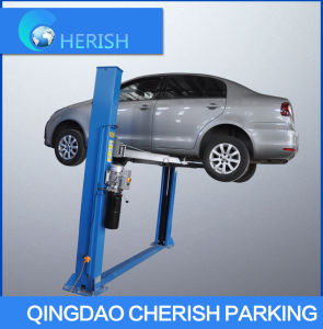 Two Post Floor Plate Hydraulic Automobile Elevator with Ce pictures & photos