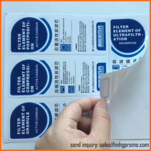 White Paper Sticker Care Label with Black Printings pictures & photos