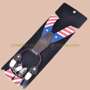 American Flag Print Suspenders Kids (BD1006-12) pictures & photos