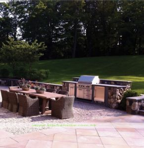 304 Stainless Steel Outdoor Kitchen with BBQ (WH-D035)