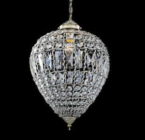 Crystal Oval Egg Shape Chandelier Lamp (WHG-700) pictures & photos