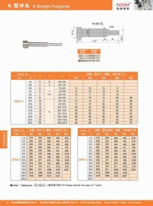SKD11/Skh9/Tungsten Carbide Straight Punches (A type) pictures & photos