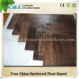 American Black Walnut Solid Wood Flooring pictures & photos