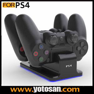 New Dual Charger Dock Station for Sony PS4 Playstation 4 with Blue Light pictures & photos