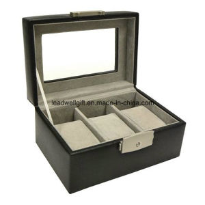 3 Slots Lacquered Watch Box Window Storage Case pictures & photos