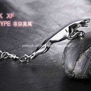 Custom High Quality 3D Jaguar Metal Keychain pictures & photos