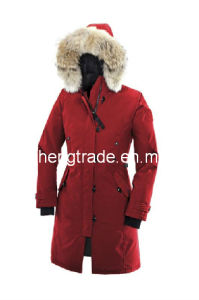2014 Hot Sale Name Brand Women White Winter Coats Long Down Jackets Coat