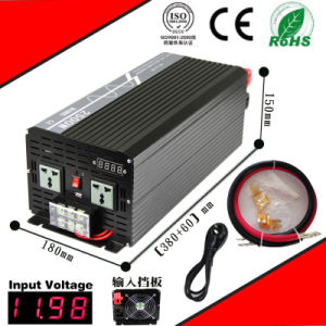 2500W DC-AC Inverter 12VDC or 24VDC 48VDC to 110VAC or 220VAC Pure Sine Wave Inverter with AC Charge pictures & photos