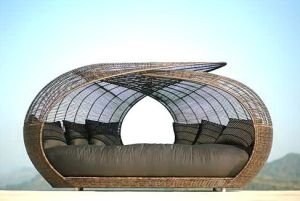 China outdoor rattan lounge bed yt df 164 1 china for Arredamento made in china