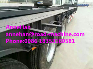 Cimc Heavy Duty Trailer Low Bed Semi Trailer 3 Fuwa Axles 50tons pictures & photos