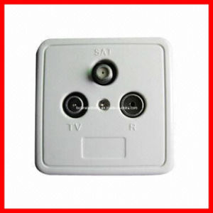 5-2450MHz 3 Gang TV/FM/Sat TV Satellite Wall Socket pictures & photos