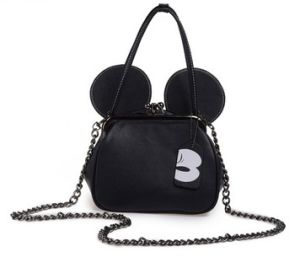 Mickey Style Genuine Leather Shoulder Bag for Women in Stort (LDO-01676) pictures & photos