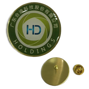 Brass Lapel Pin in Full Color Printing