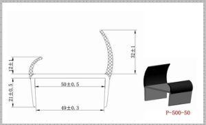 Rigid PVC + Flexible PVC Co-Extrusion Door Seals P-500-50