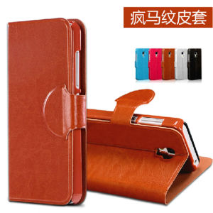 Pull-up Leather Case for Samsung S6 pictures & photos