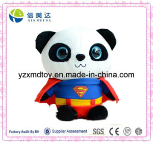 Cute and Vivid Superman Panda Plush Toys (XDT-J018) pictures & photos