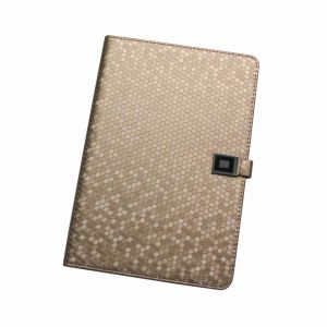 Luxury Stand Leather Case for iPad Mini, Golden Color, Protect From Scratches and Bumps (IG-IPA-MIN-PU-FLP-GLDN)