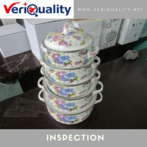 Enamel Cookware Set 10 Pieces Quality Control Inspection Service in China pictures & photos
