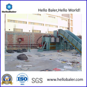 Semi-Auto Hydraulic Cardboard Baler with Conveyor pictures & photos