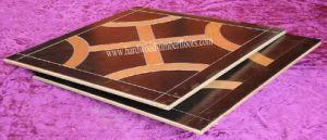 Elegant American Walnut and Oak Art Parquet Wood Floor